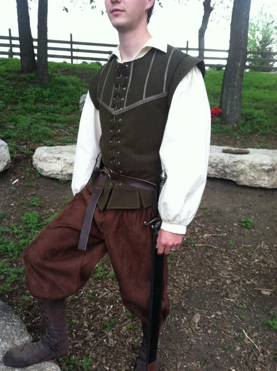 Men's Authentic Renaissance Costume--- Renaissance Costume Set--- 3 Piece Set includes Pants, Shirt and Doublet--- Custom Made in Your Size