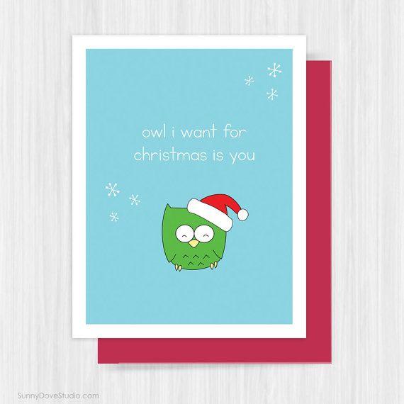 Cute Christmas Card For Boyfriend Girlfriend by SunnyDoveStudio