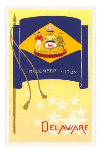 Flag Of Delaware Delaware State Flag State Flags Delaware State