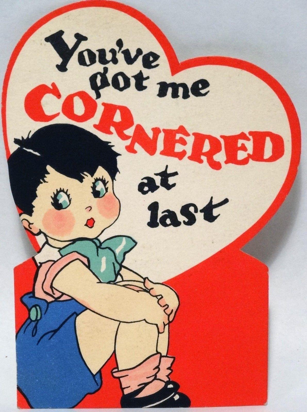 30s Little Jack Horner Valentine Card