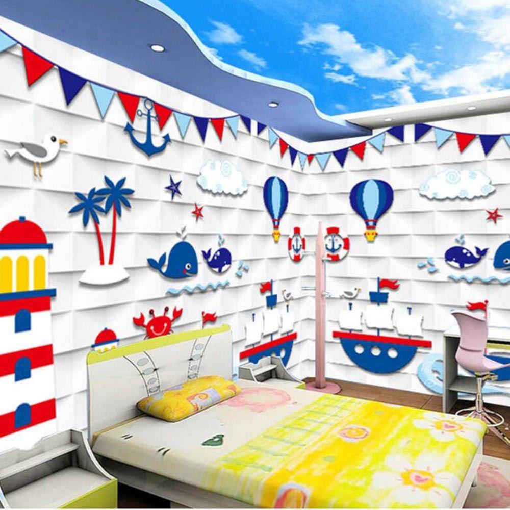 D embossed kids bedroom photo wallpapers murals wall paper living
