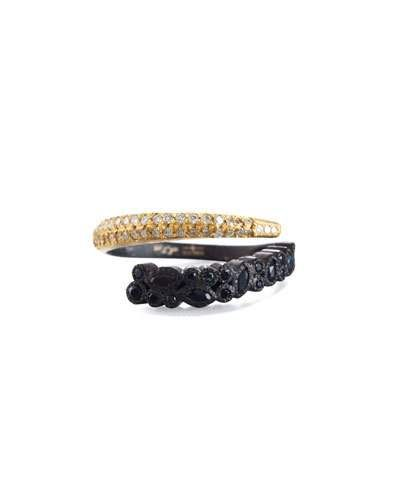 Armenta Old World Two-Tone Bypass Ring with Diamonds aH3DiIY