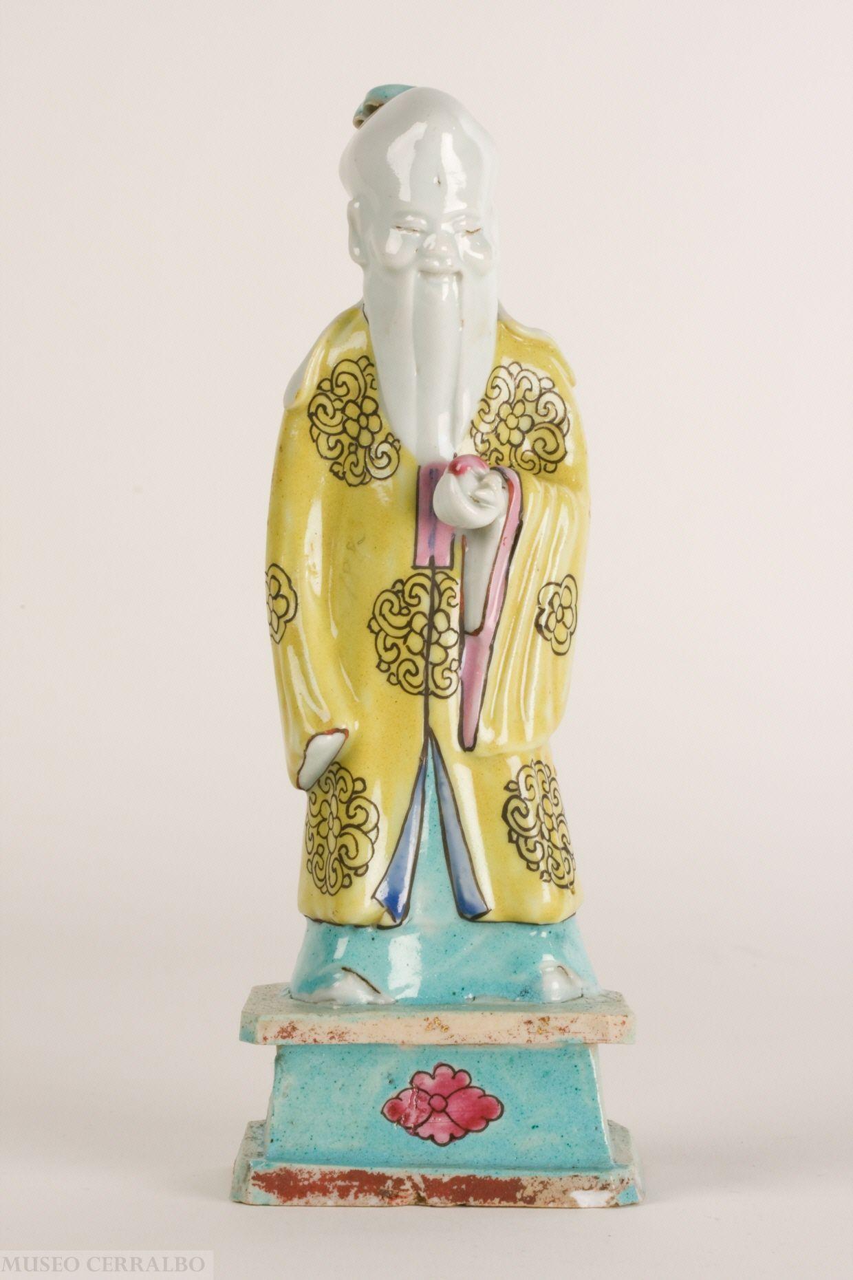 f2e40da209 Figura de Shou-Lao. Dinastía Qing