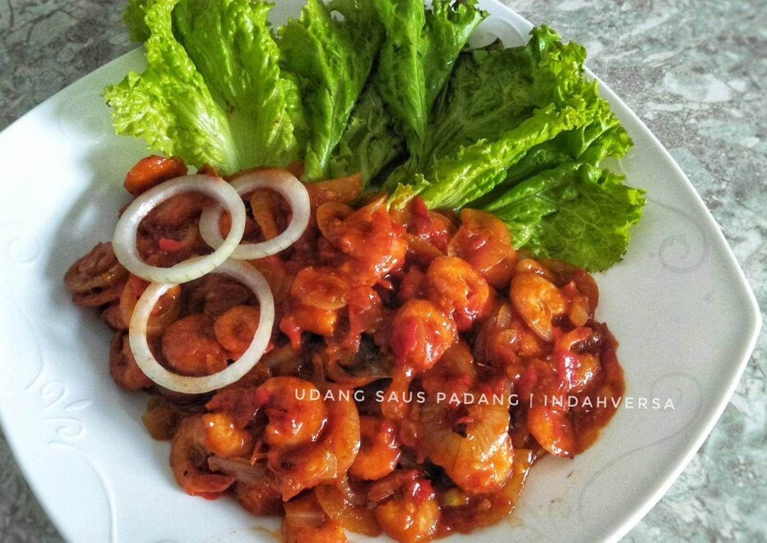 Resep Udang Saus Padang Oleh Indah Permatasari Resep Resep Resep Udang Resep Makanan