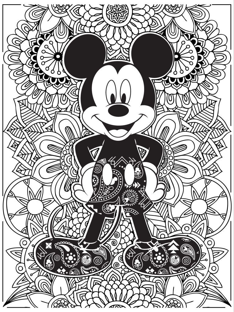 Disney zentangle coloring pages - Celebrate National Coloring Book Day With Disney Style