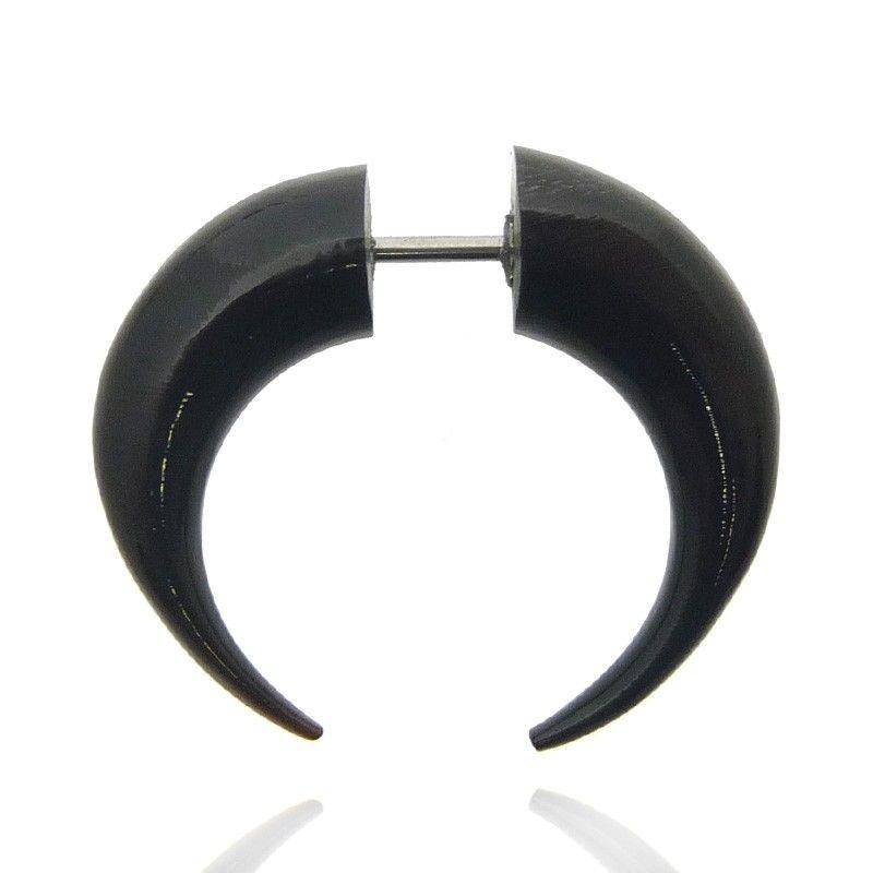 Paire de boucles d/'oreille spirale piercing en corne faux écarteur ethnique