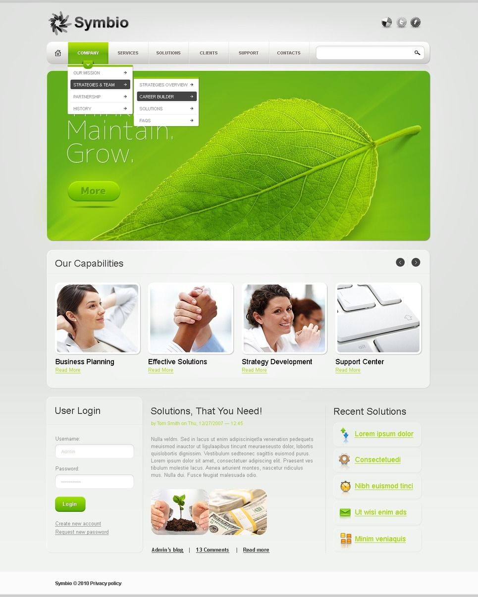 Business PSD Template Business PSD Template Psd
