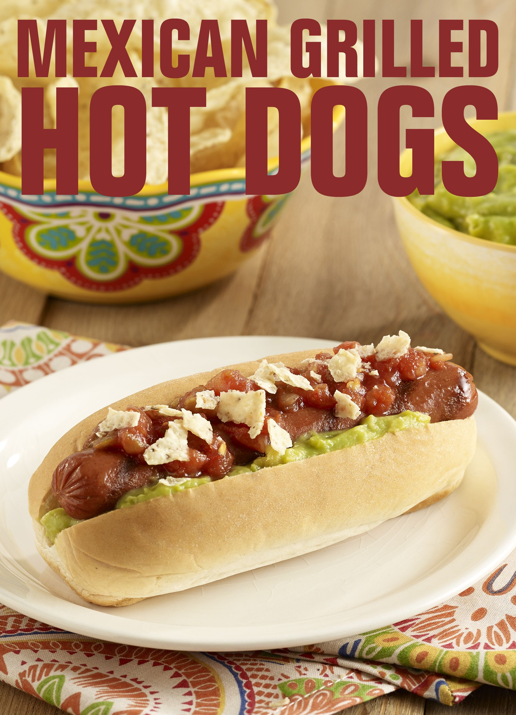 Mexican grilled franks hot dogs hot dog toppings recipes
