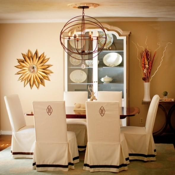 Dining Room Chair Slipcovers Decorating Ideas Add Ribbon And