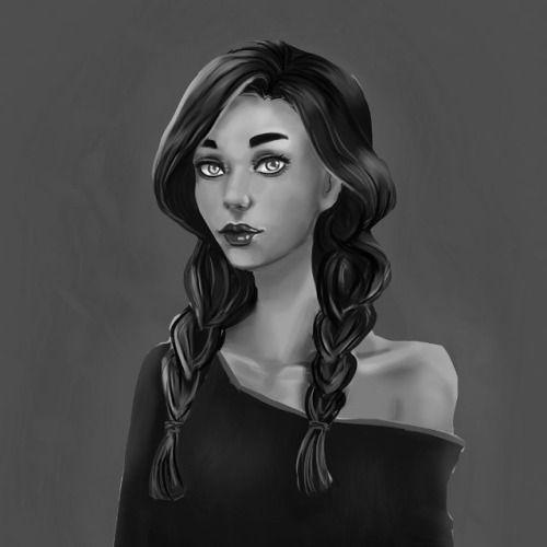 Portrait commission #art #drawing #illustrations #artoftheday #goth #Gothic #black #mystic #digitalart #gamedev #characterdesign #black #dark #games #independentartist #玉城ティナartist #낙서 #그림 #드로잉 #연필드로잉 #연필그림 #손그림 #스케치