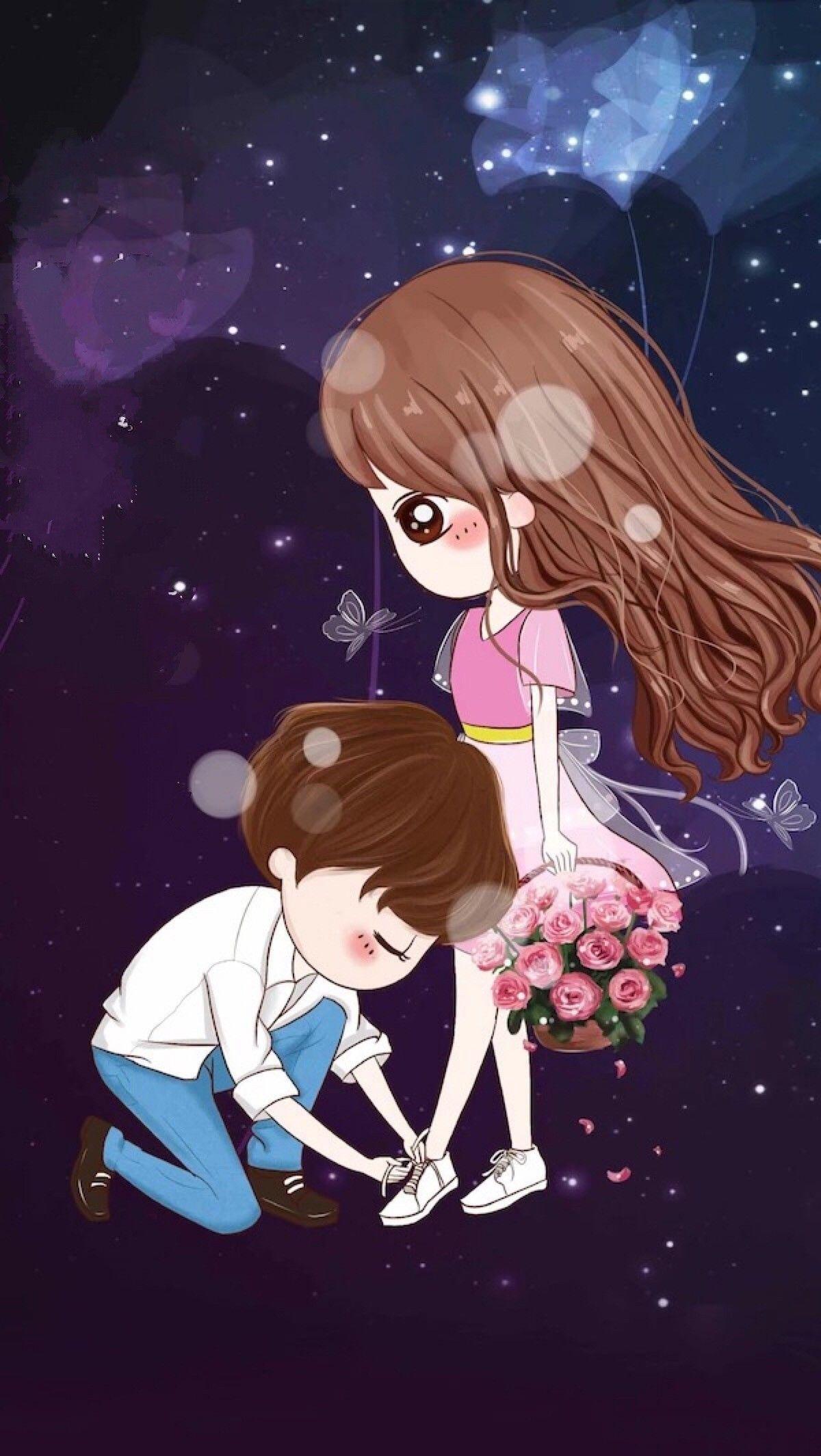 أنت ممي زة وأنا لست كذلك من العدل أن تكوني مع شخص مثلك هو الحب ومعه آلي اته ليبقى حيا Cute Couple Wallpaper Cute Couple Cartoon Cute Wallpapers