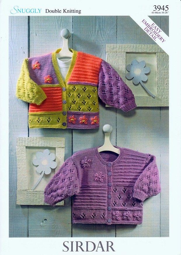 Cardigans In Sirdar Snuggly Dk 3945 Chrochet And Knitting