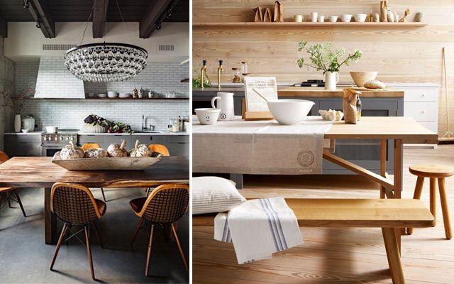 C mo decorar cocinas de estilo industrial y r stico - Decorar comedor rustico ...