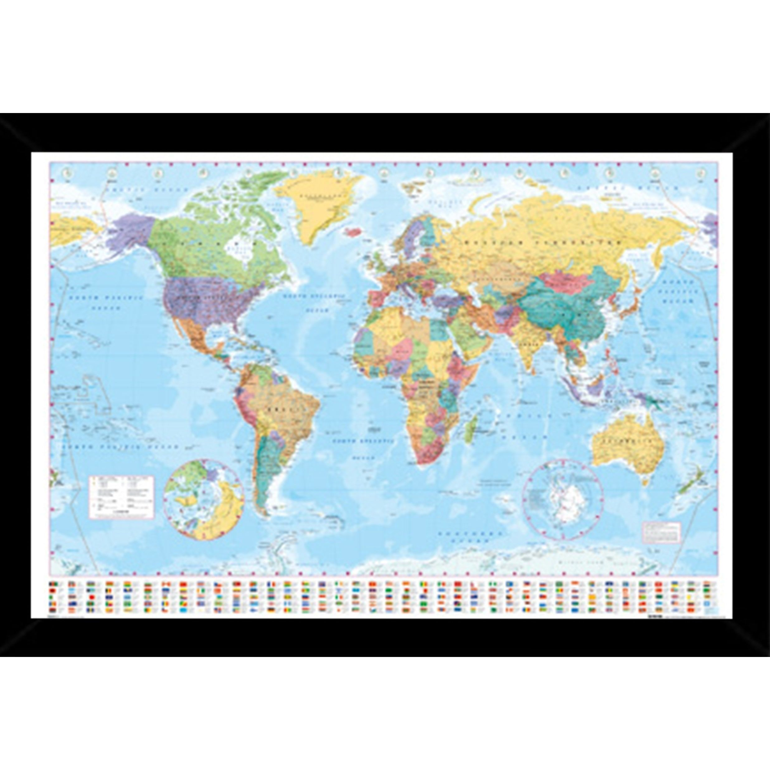 World map with choice of frame products pinterest choices overstock online shopping bedding furniture electronics jewelry clothing more map frameposter gumiabroncs Gallery