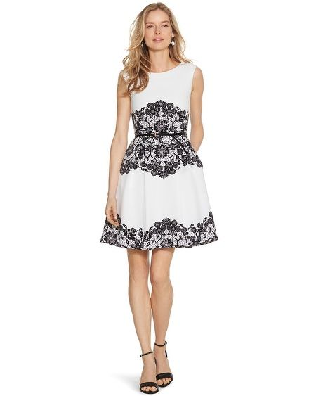 Black house white market lace dress