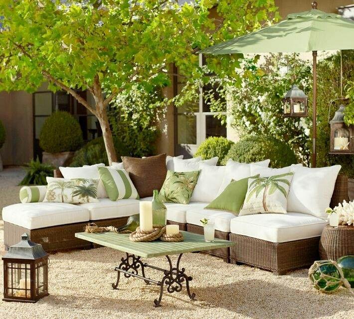 Cojines de exterior Para dar un cambio a nuestros muebles de jardín ...
