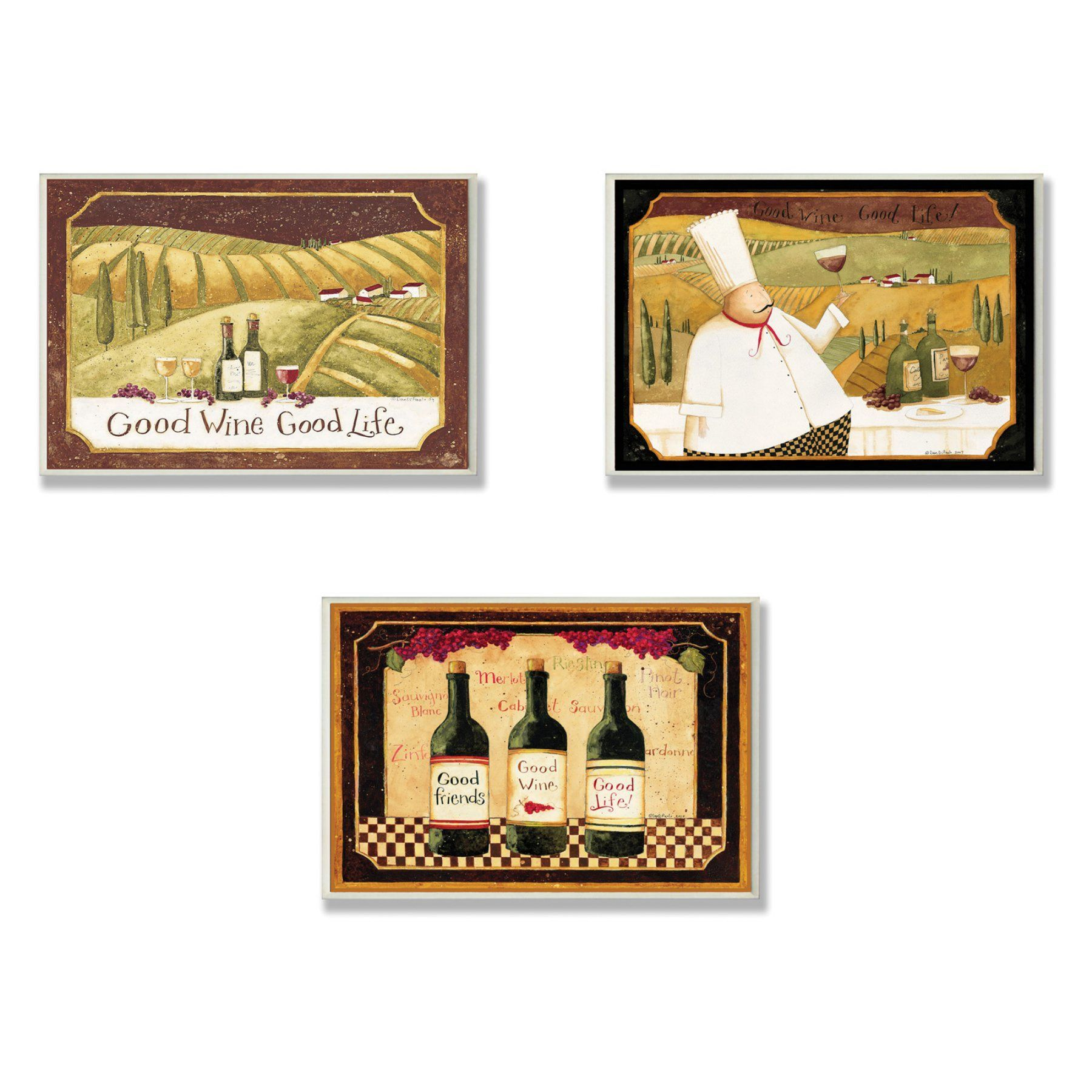 Stupell industries good friends wine and life kitchen wall plaque
