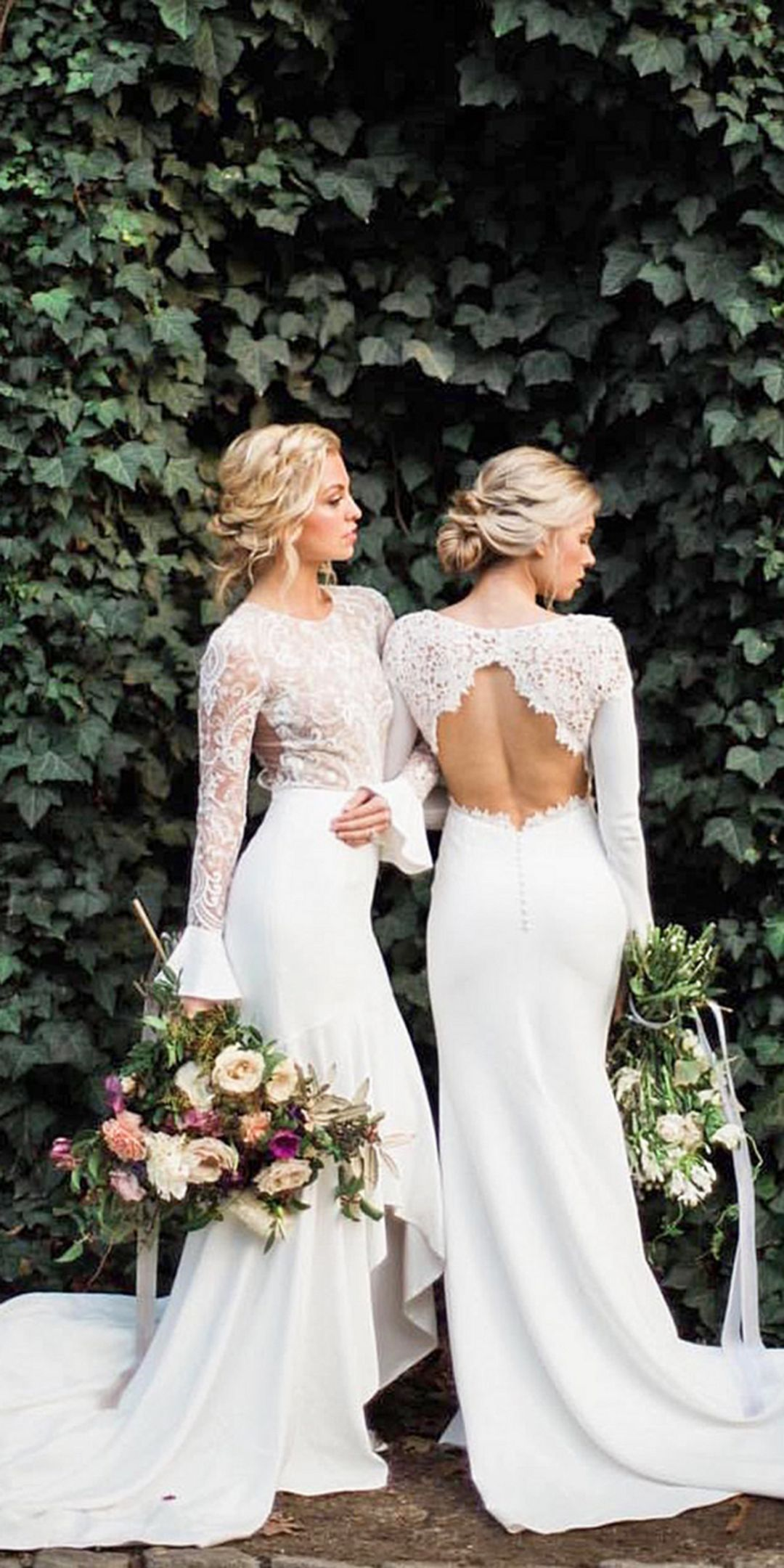 elegant white long lace bridesmaid dresses ideas lace