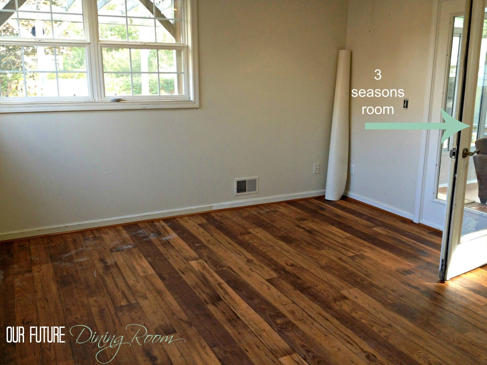Linoleum wood flooring faux hardwood we went with a for Wooden floor lino