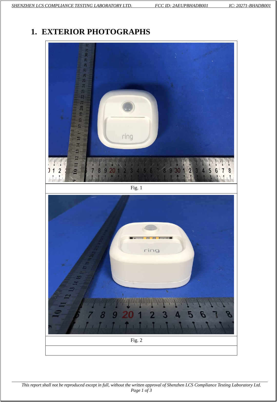 Ring LLC Steplight BHADB001 (2AEUPBHADB001) FCC