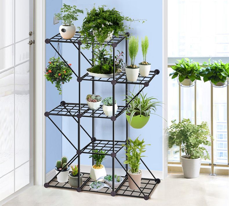 European Balcony And Indoor Flower Pot Holder Garden Small Plant Stand Iron Flower Pergolas Succulen Plant Stand Indoor Indoor Plant Shelves Indoor Flower Pots