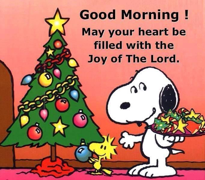 snoopy decorating the christmas tree with woodstock - Peanuts Christmas Quotes