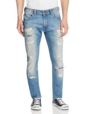 3292e861 DIESEL Thavar Destroyed Super Slim Fit Jeans In Denim. #diesel #cloth #denim