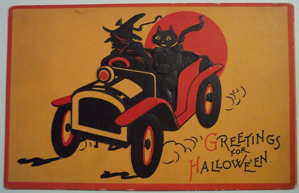 Vintage Halloween Postcard Sam Gabriel Retro halloween