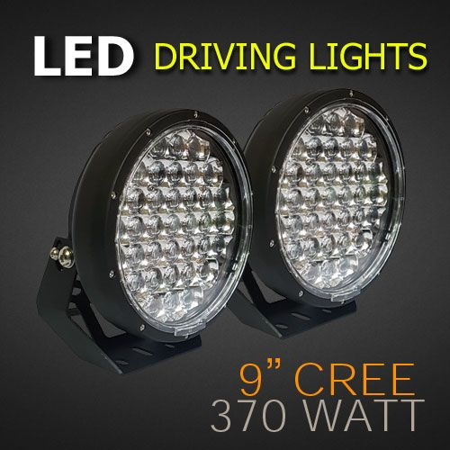 Led Driving Lights 9 Inch 370 Watt Brightest Led Driving Lights Lights Led