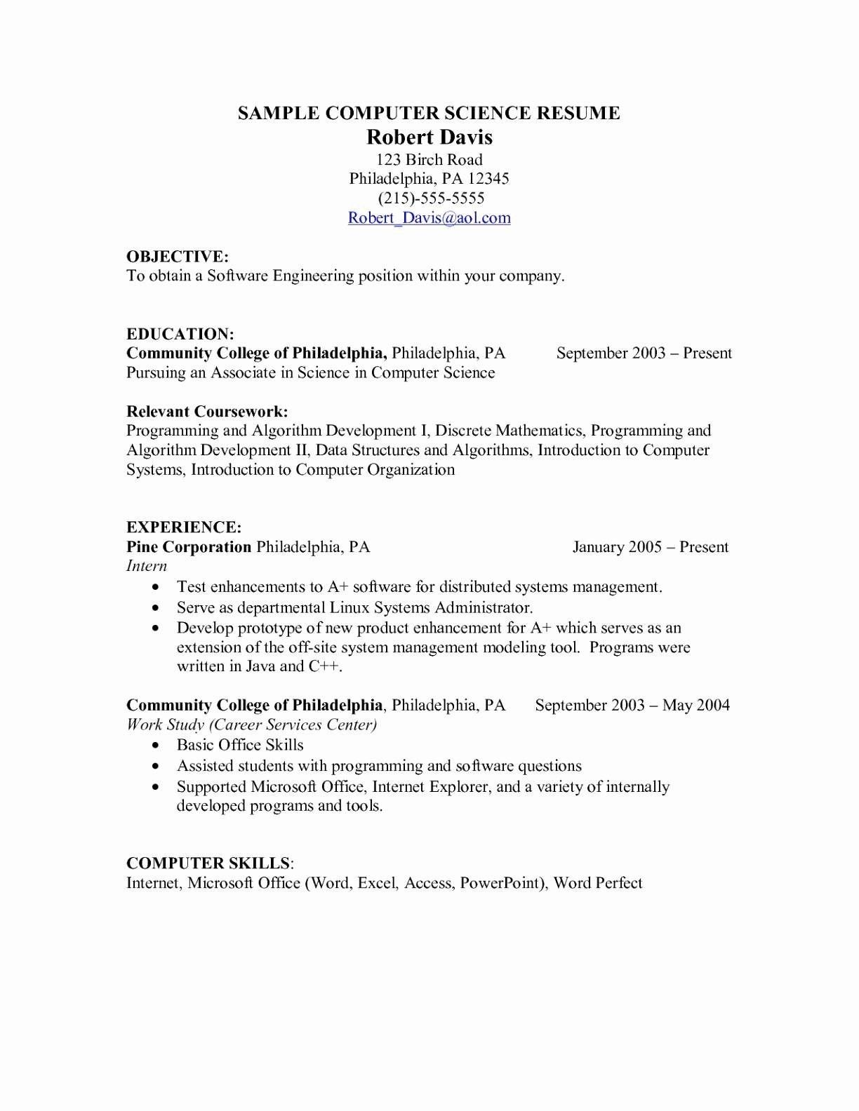 75 Beautiful Collection Of Resume Computer Skills Examples