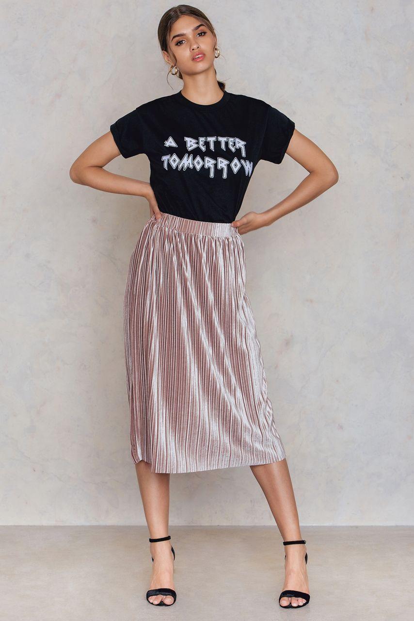 99a7c3a3 Pleated Velvet Midi Skirt   Fall