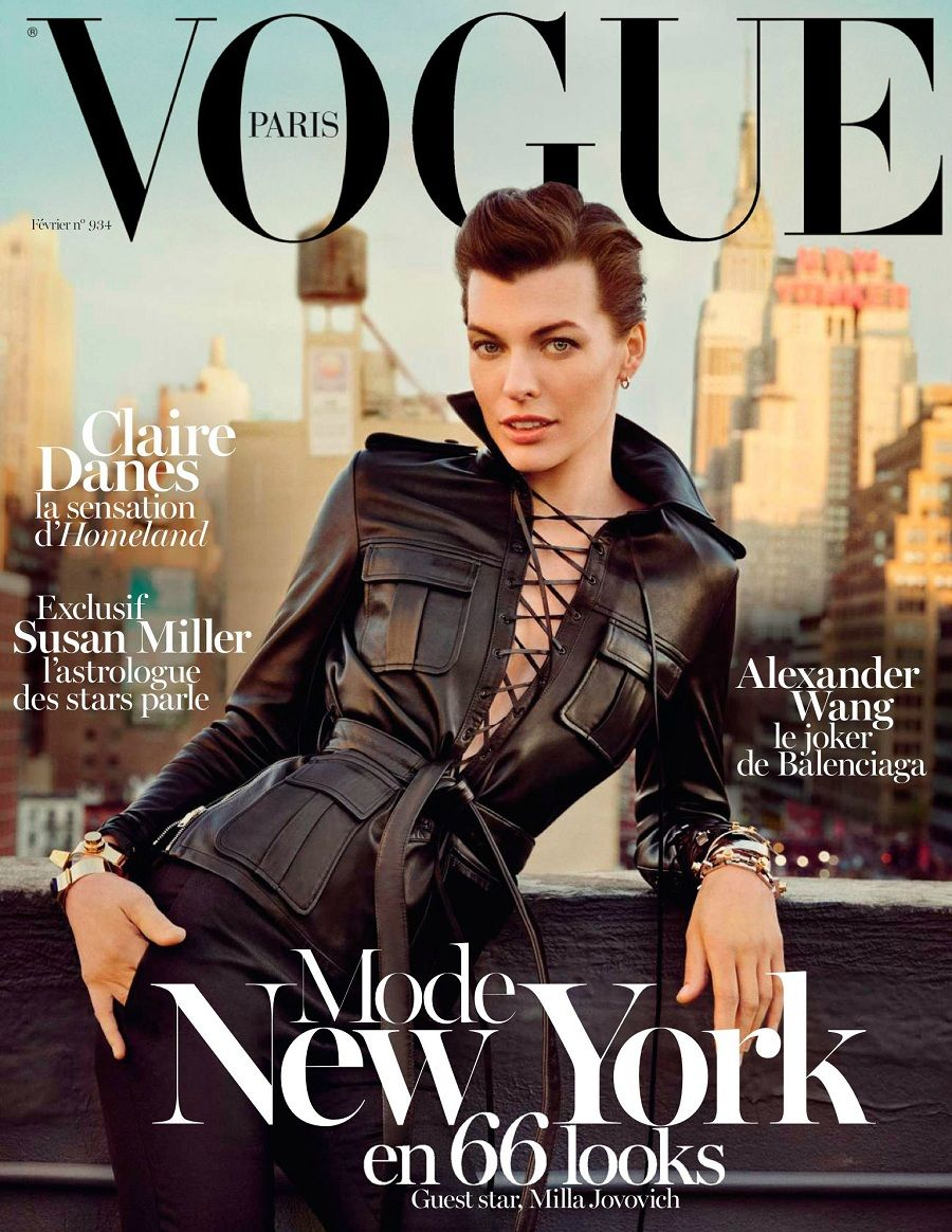 Milla Jovovich for Paris Vogue