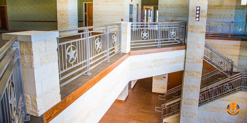 TX-DPS TRAINING CENTER | Custom railing, Stainless steel ...
