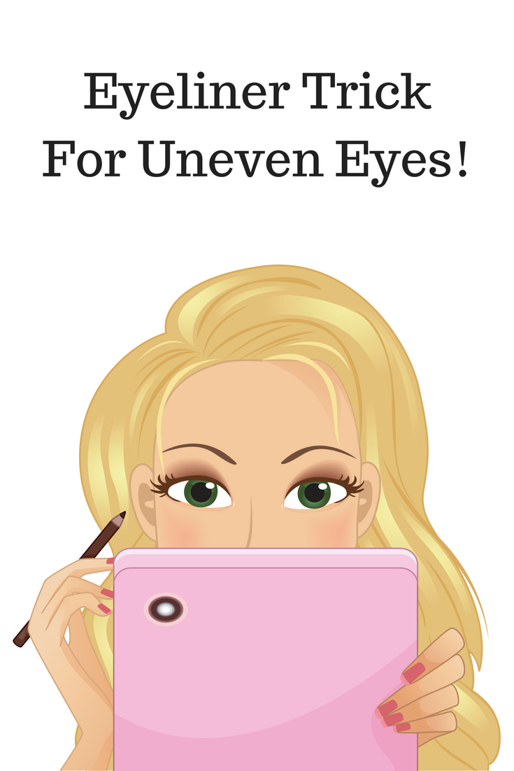 Beauty Hack: Eyeliner Trick For Uneven Eyes  If you have two different sized eyes like I do, try this easy trick to make them appear even!