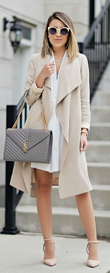 2776a949aa Draped Trench Outfit Idea by Stephanie STERJOVSKI