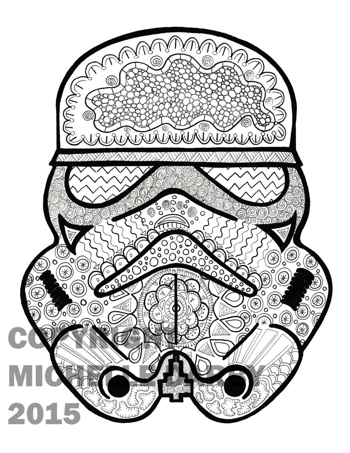 Zen Stormtrooper Colouring Page (With images) Star wars