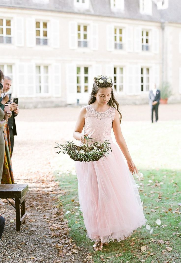 Simple and elegant ceremony in the french countryside once wed