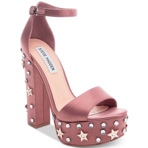 9b9751ef231 Steve Madden Women s Glory Two-Piece Platform Sandals ( 76) ❤ liked on  Polyvore