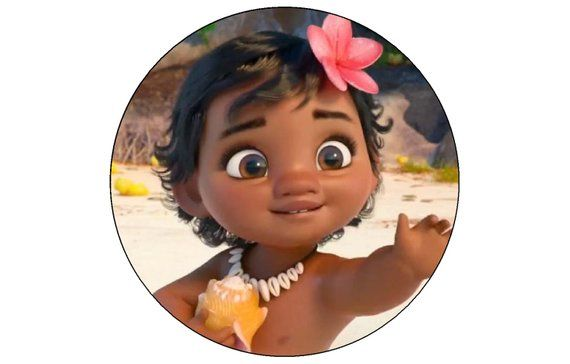 Moana the Movie Edible Cake OR Cupcake Toppers Decoration