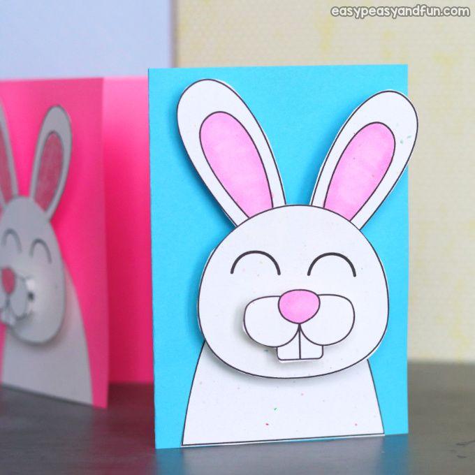 Easter Bunny Card Easter Crafts For Kids Easter Crafts Bunny Crafts