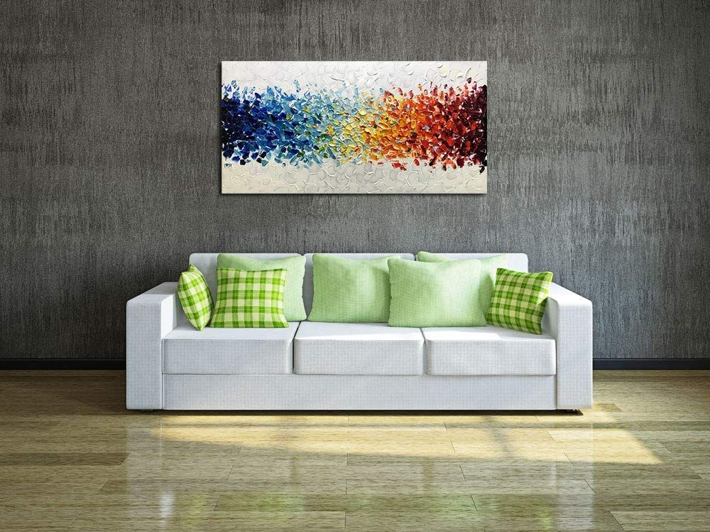 Amazon Com Amei Art Paintings 24x48 Inch Paintings Oil Hand Painting 3d Hand Painted On Canvas Abstra Wall Art Wallpaper Home Wall Decor Contemporary Artwork