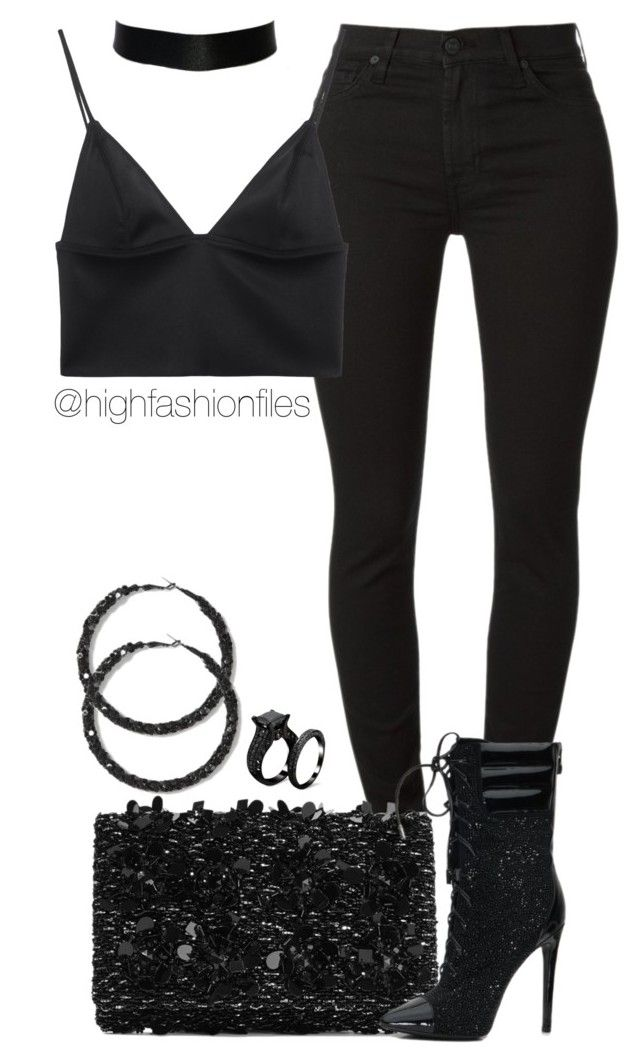 """""""Black is the new black"""" by highfashionfiles ❤ liked on Polyvore featuring Oscar de la Renta and T By Alexander Wang"""