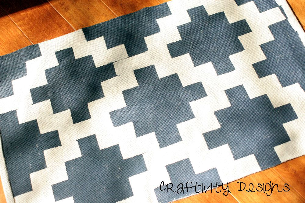 Craftivity Designs: A Painted Rug for the Entry Way. Love this design!