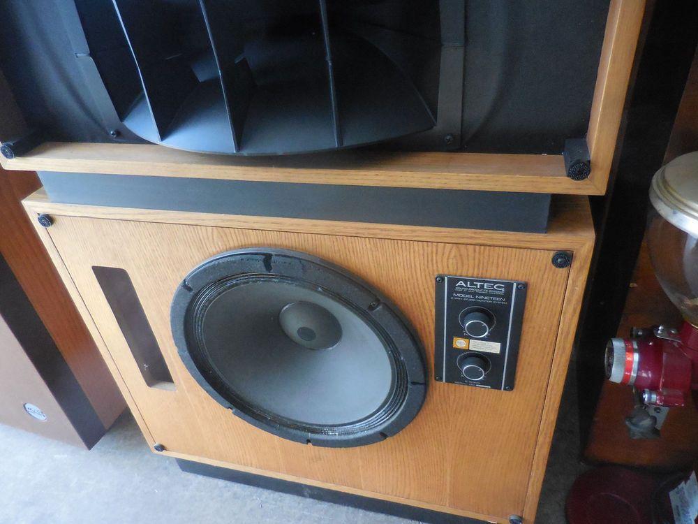 Vintage Altec Lansing Model 19 Studio Speakers TWO Model Nineteen