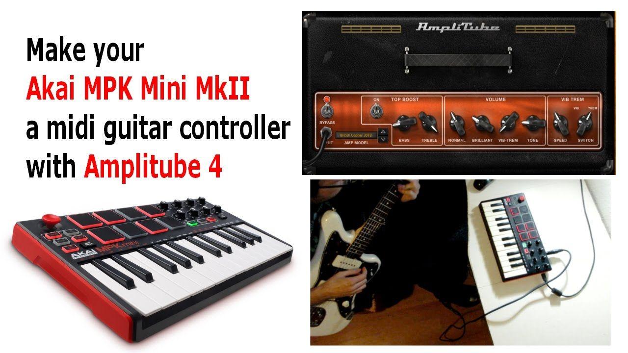 Make your AKAI MPK Mini MkII a MIDI GUITAR CONTROLLER with