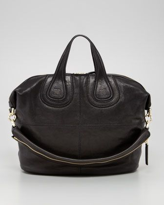 6afaf26f2c3 Givenchy Nightingale Zanzi Medium Leather Bag, Black - Bergdorf Goodman