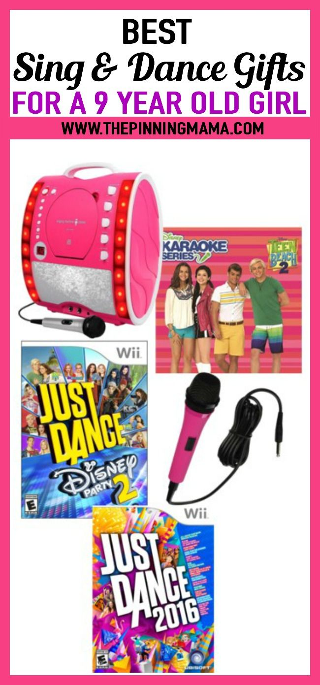 sing and dance gift ideas for a 9 year old girl- see 25+ of the best
