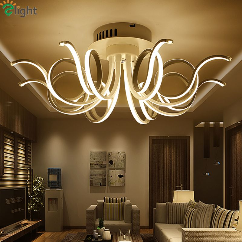Modern LED Crystal Ceiling Lights Chandelier Lamp Kitchen Bed Living Room Light