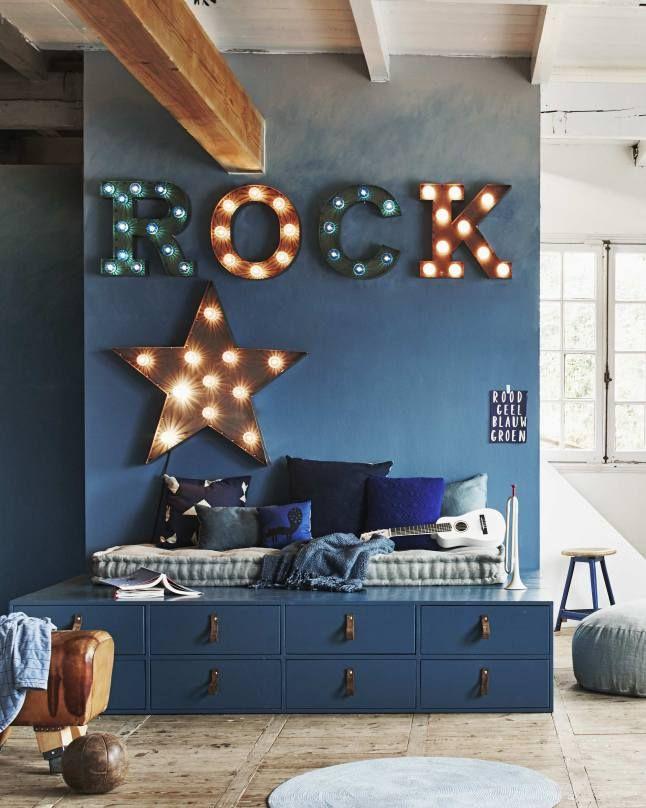 Chambre d\'enfant en bleu | PLANETE DECO a homes world | Décoration ...