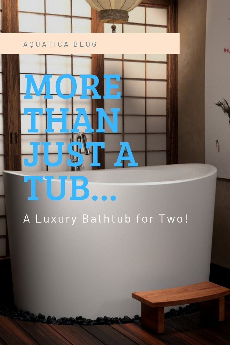 Aquatica's amazing True Ofuro Duo Freestanding Japanese Bathtub